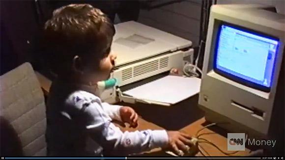 Аарон Шварц в детстве