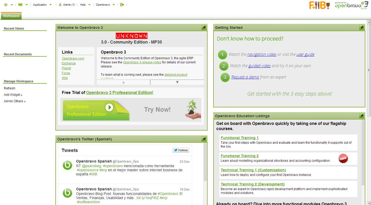 Запустить Openbravo при помощи Virtual Appliance проще простого