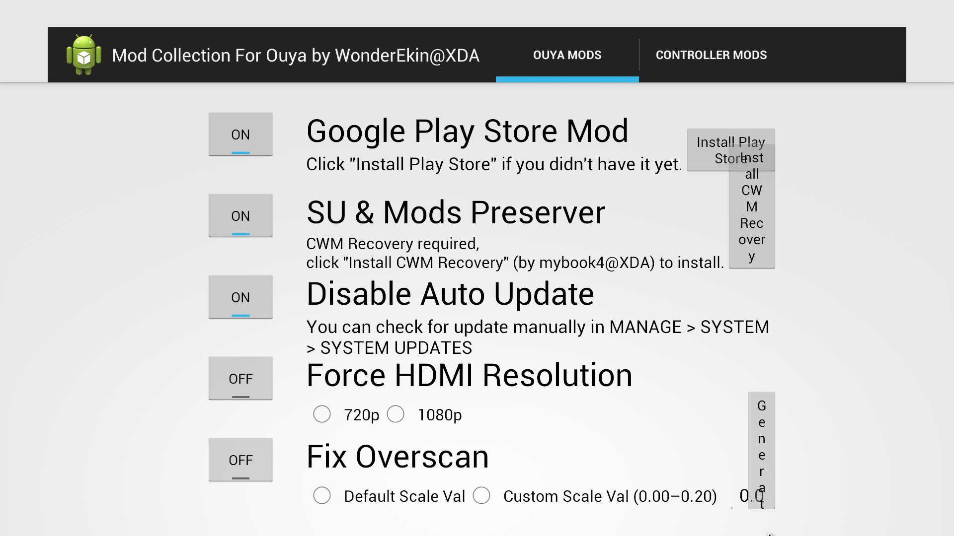 Mod Collection for Ouya