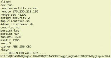 Рабочий клиентский конфиг OpenVPN