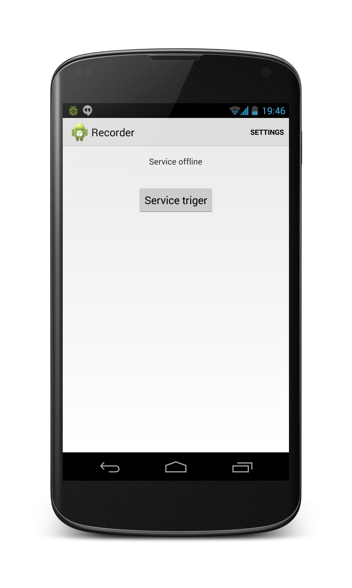 GUI мобильного приложения