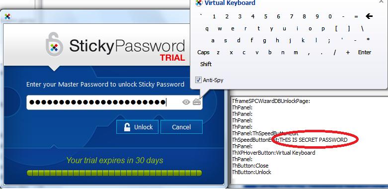 Получение мастер-пароля в Sticky Password