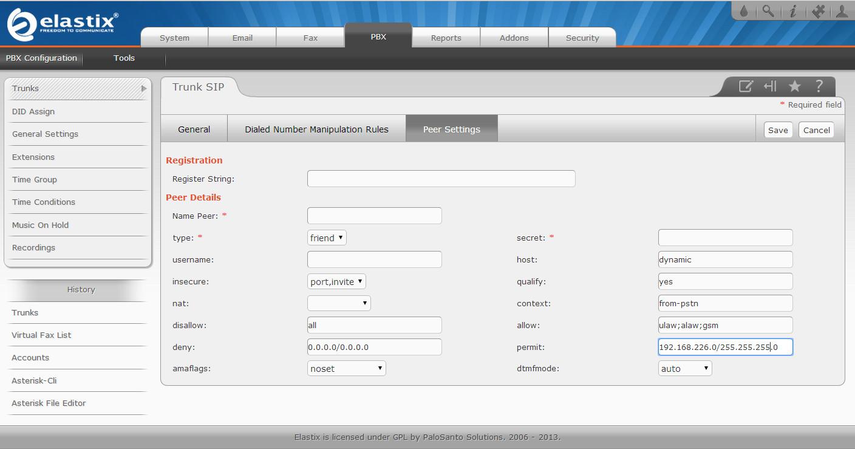 Настраиваем разрешенные IP-адреса