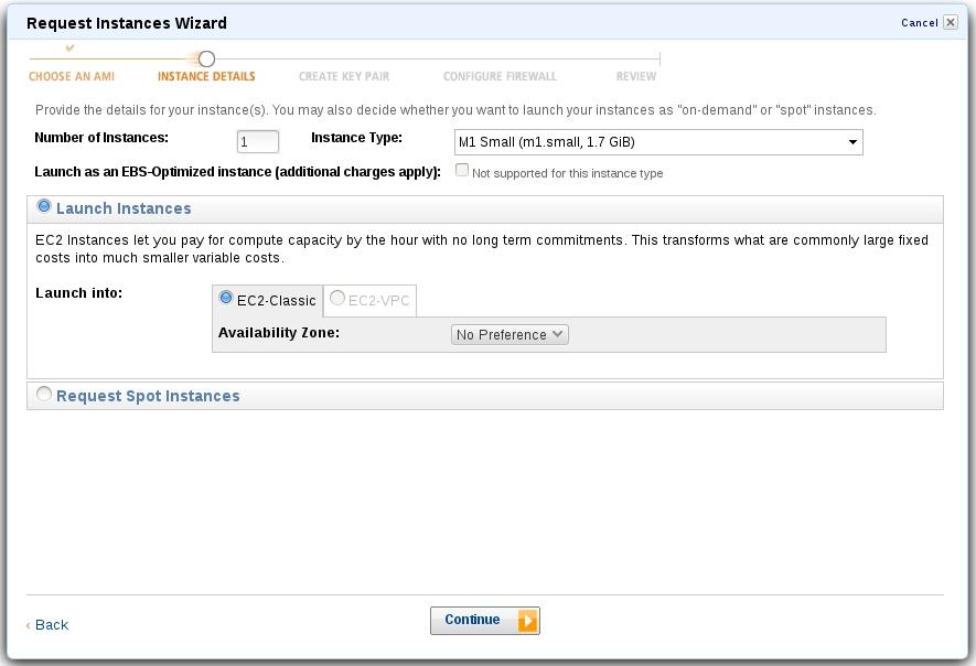 Работа мастера на сервисе Amazon EC2