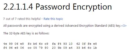 «Приватный» ключ для декрипта cpassword