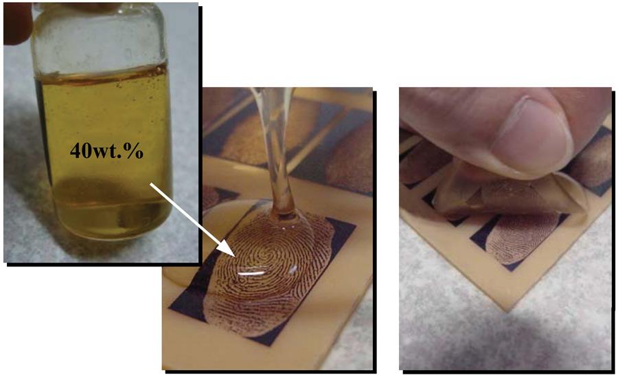 Рис. 4. Заливаем форму желатином и аккуратно снимаем после застывания