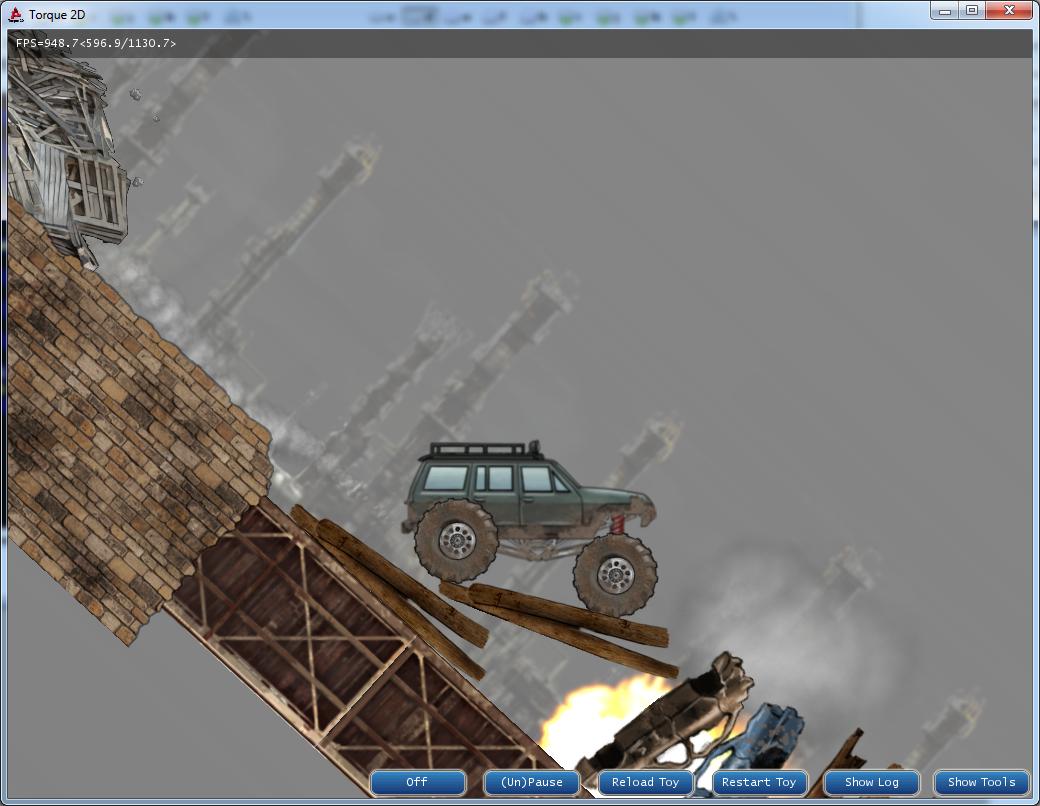 Рис. 1. TruckToy — сэмпл на Torque 2D