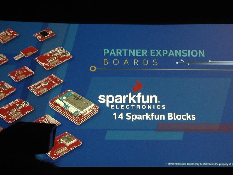 Модули расширений для Edison от Sparkfun
