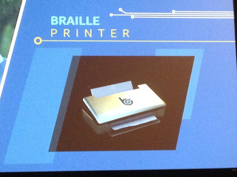 Принтер для печати шрифтом Брайля на Edison