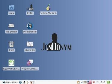 Рабочий стол JonDo
