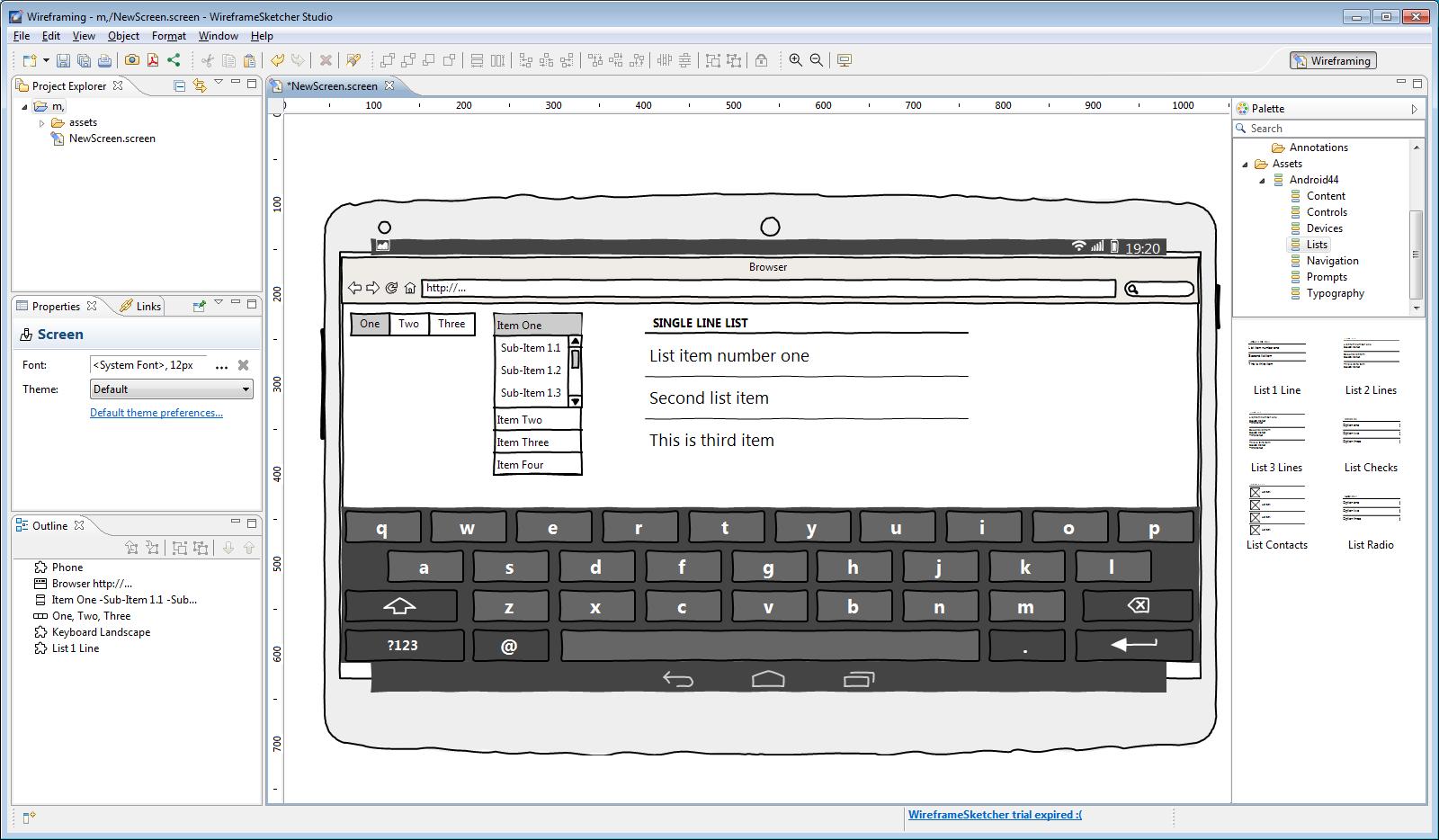 Шаблоны планшета выглядят неаккуратно, но с их помощью можно нарисовать интерфейс для любого устройства
