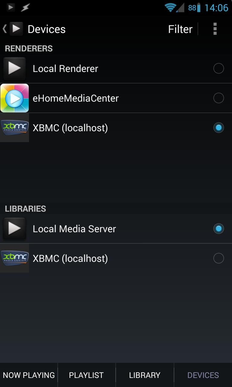Проигрываем локальные файлы на внешнем XBMC-сервере с помощью BubbleUPnP