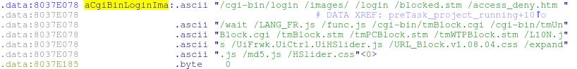 Полный список доступных файлов в WRT120N