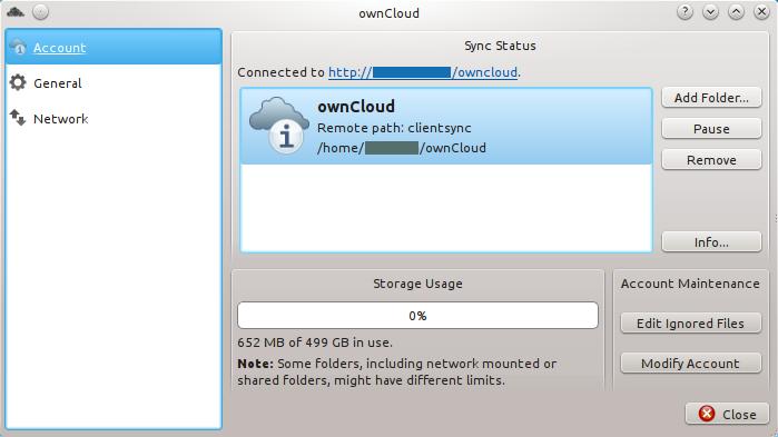 Клиент OwnCloud мало чем отличается от того же Dropbox