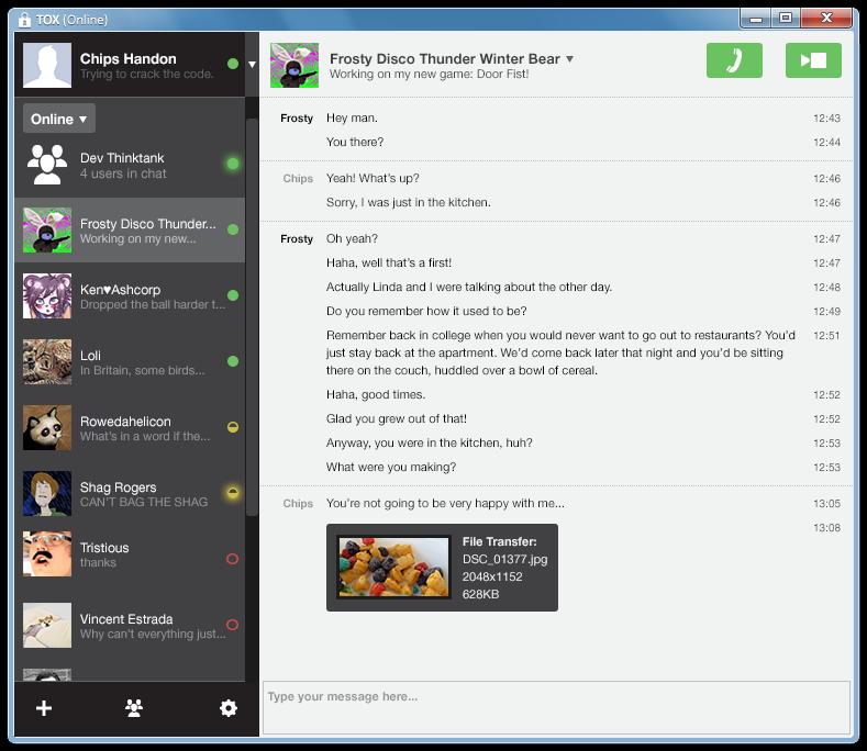 Tox — отрытый аналог Skype