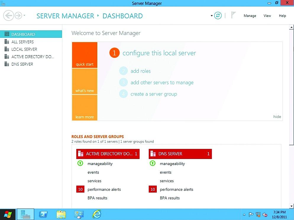 Win8 получил обновленный Server Manager