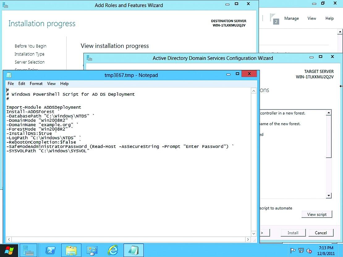 Любые настройки в GUI, по сути, сводятся к команде PowerShell