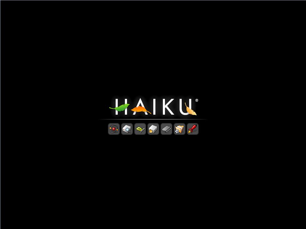 Приветственный экран Haiku