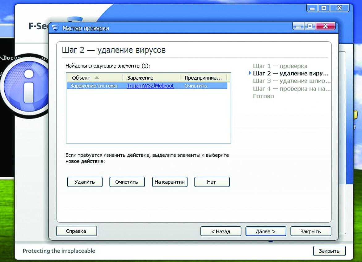 Срабатывание F-Secure Internet Security на Sinowal_cr