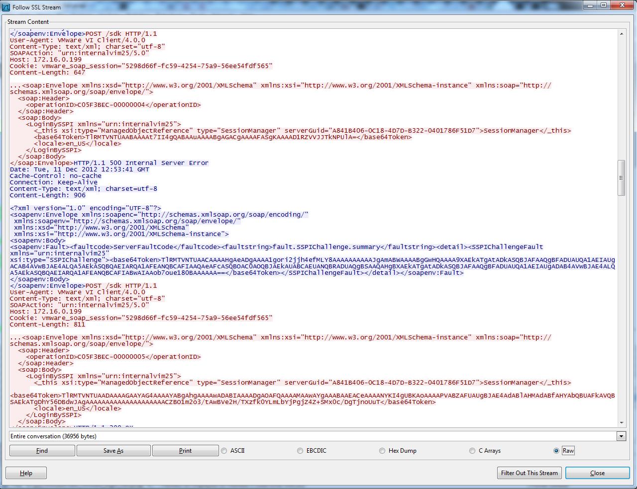 Рис. 1. NTLM-аутентификация в vCenter