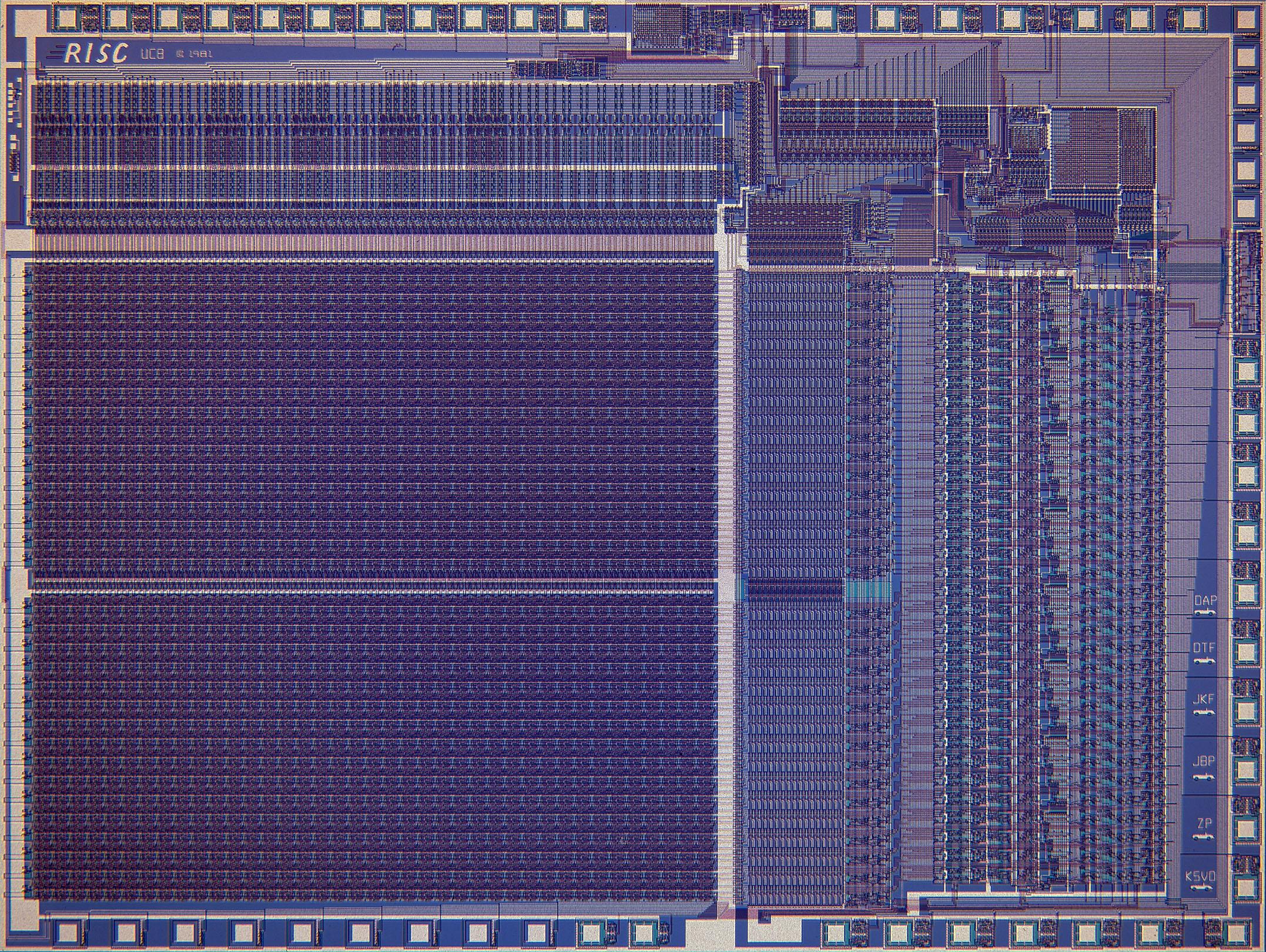 Схема одного из первых процессоров RISC