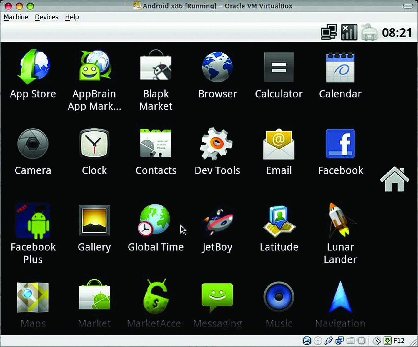 Android-x86, запущенный под VirtuaBox, нахорошем компьютере работает примерно вдва раза быстрее, чем смартфон Nexus One!