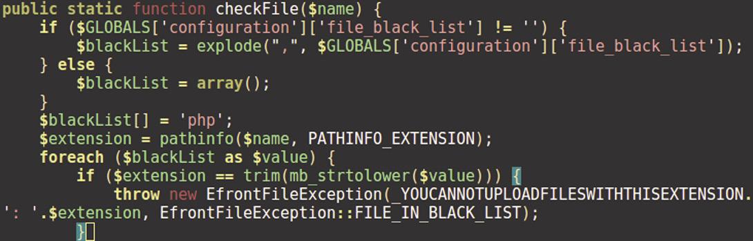 Код функции CheckFile()