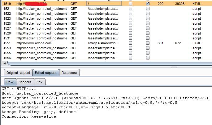 Случай, когда значение Host возвращается как путь к ресурсам страницы