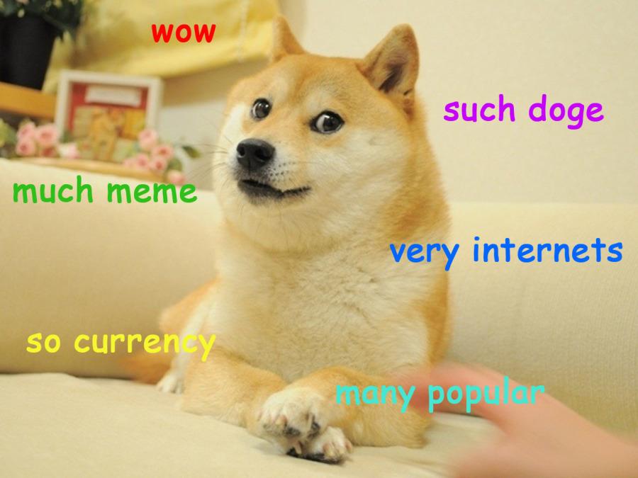 Большинство картинок с doge выглядит примерно так