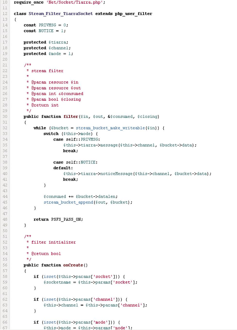 Сложный метод onCreate в пользовательском фильтре
