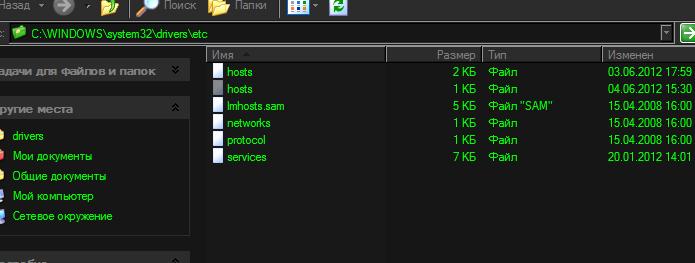 Подставной клон hosts