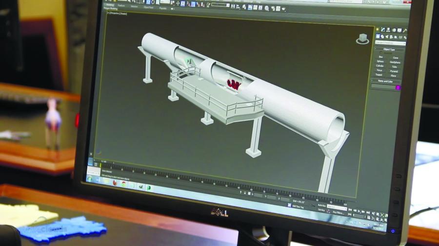 Рис. 1. Модель Hyperloop в программе 3D-моделирования