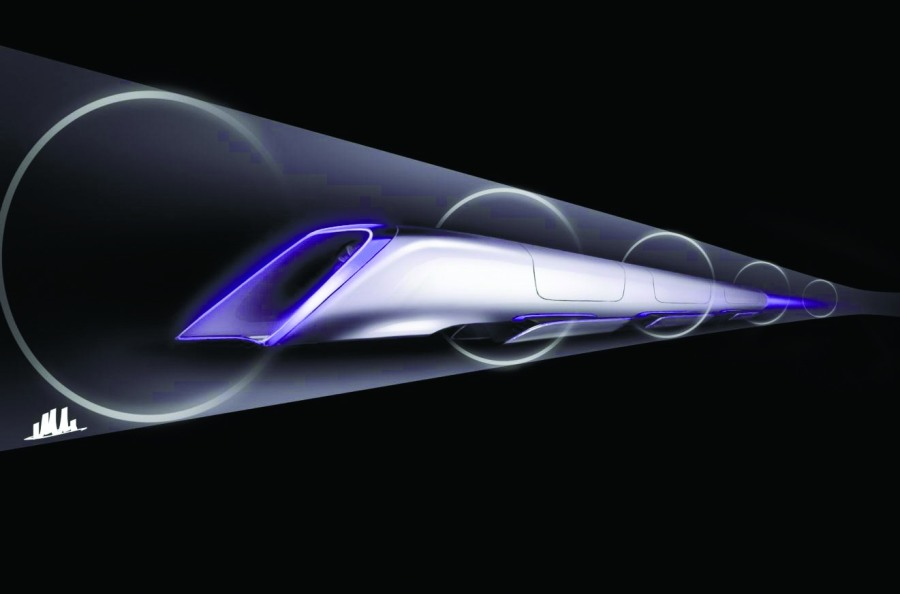 Рендеринг концептуального дизайна транспортной капсулы