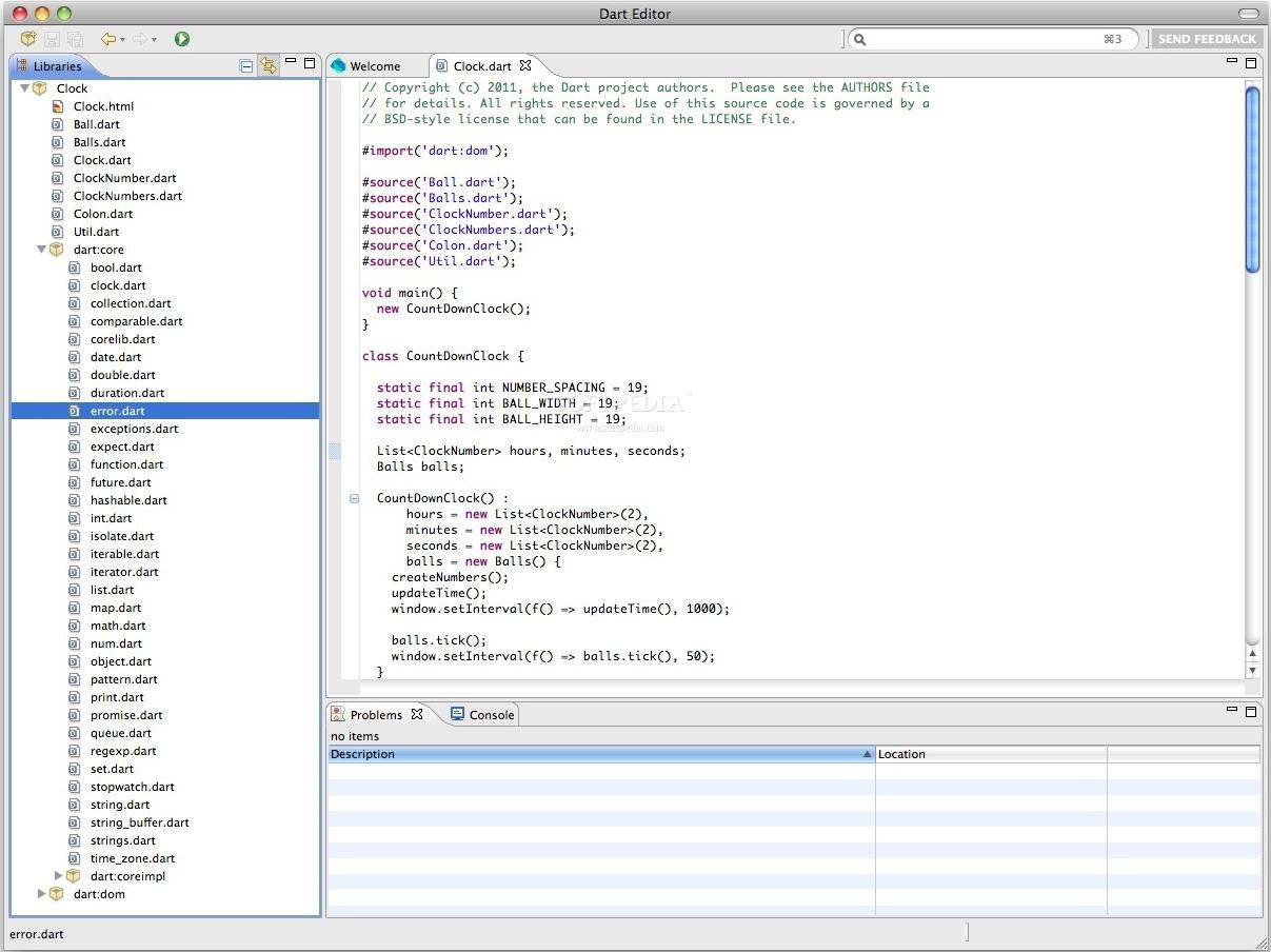 Официальный редактор кода для Dart