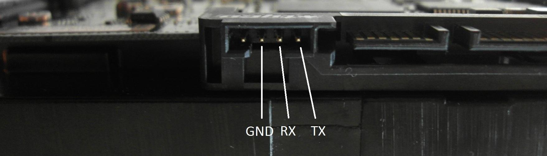 Рис. 2. Разъем для подключения через последовательный порт. Одной тайной меньше