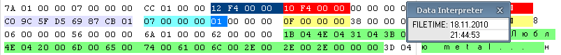 Структура записи сообщения
