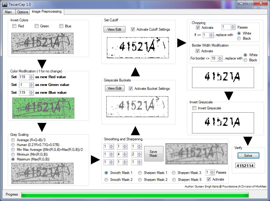 Предварительная обработка изображений и извлечение текста из капчи