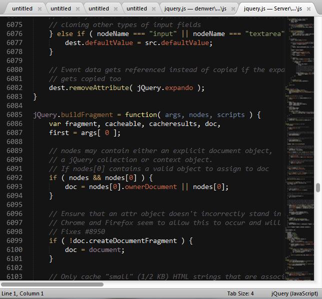 Подсветка синтаксиса jQuery + тема Twilight