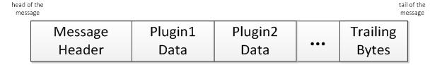 Структура передаваемых по сети данных