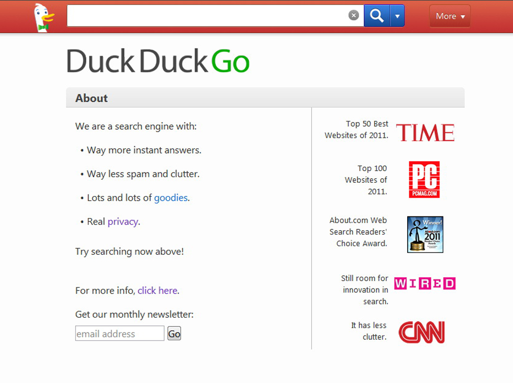 Поисковик уже сегодня может похвастаться тем, что был удостоен внимания крупных изданий.