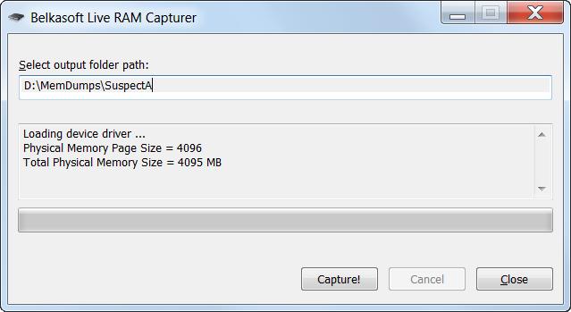 Захват слепка оперативной памяти — Belkasoft Live RAM Capturer