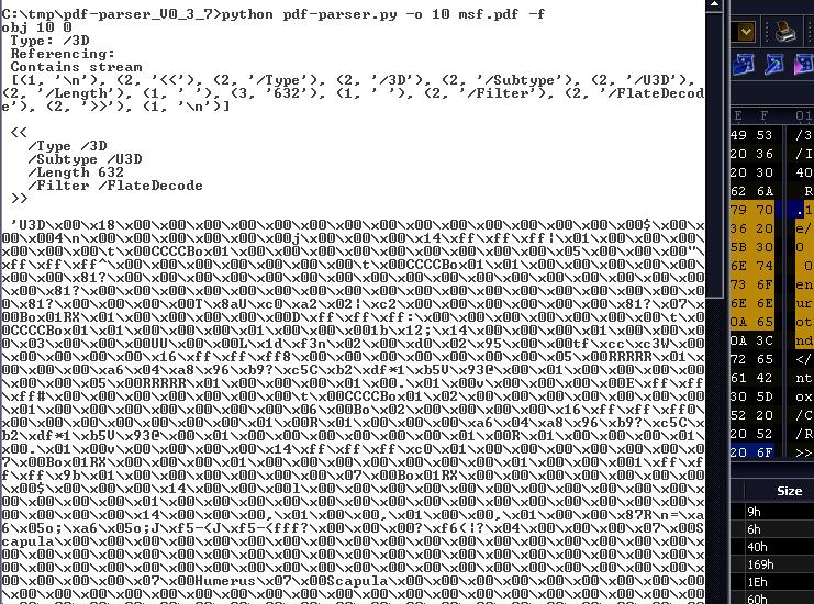 Вредоносное содержимое 3D-объекта в теле pdf-файла