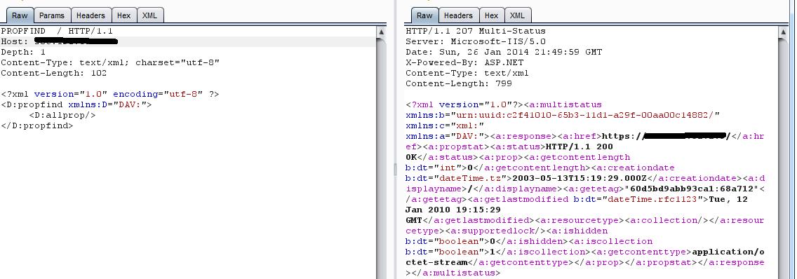 Пример работы команд WebDAV