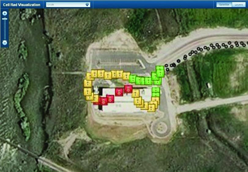 Рис. 3. Черные и цветные отметки показывают передвижения человека, на телефоне которого установлена программа CellRAD
