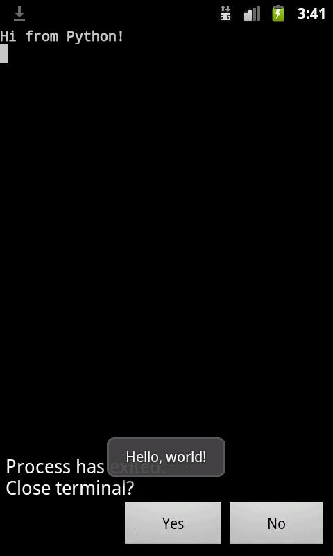 Скриншот 6: результат работы HelloWorld.py