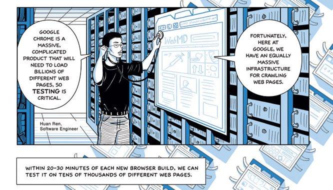 Фрагмент комикса о Chrome