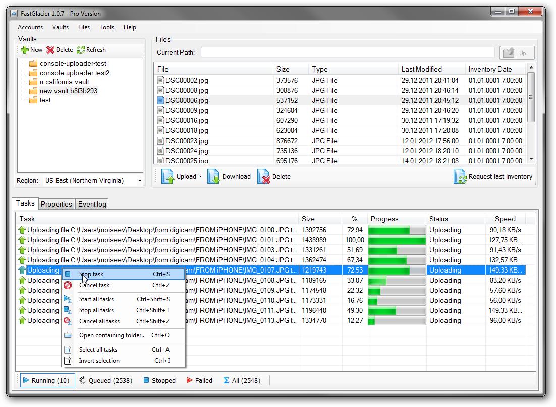 Делаем бэкап данных в облако Amazon с помощью FastGlacier