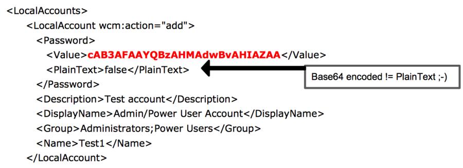Пример файла Unattended.xml с сохраненными данными